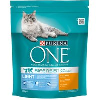 Purina ONE Light Chicken & Wheat Dry Cat Food - Economy Pack: 4 x 800g