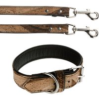 Heim Cork & Leather Tiger Dog Collar & Lead Set - Set 2