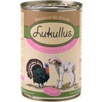 Lukullus Junior Saver Pack 24 x 400g - Turkey Hearts & Lamb