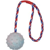 Trixie Rubber Ball with Throwing Handle - 3 Pack