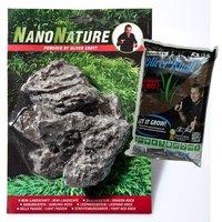 NanoNature Mini Landscape Set - 5 rocks + 3 litres NatureSoil brown, fine