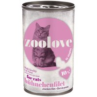 zoolove Wet Cat Food - Chicken - 6 x 140g
