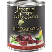 zooplus Selection Saver Pack 12 x 800g - Adult Active Pure Chicken