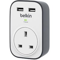 Belkin Bsv103Af Surgecube 1-Way Surge Protector With 2 X 2.4A Shared Usb Chargers
