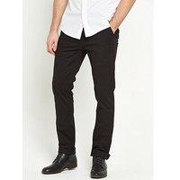 V by Very Slim Stretch Chino, Black, Size 36, Inside Leg Short, Men