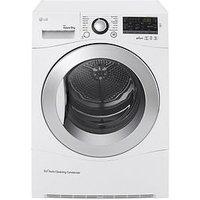 Lg Rc9055Ap2F 9Kg Condenser Sensor Tumble Dryer - White