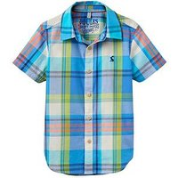 Boys, Joules Ss Check Shirt, Multi, Size 3 Years