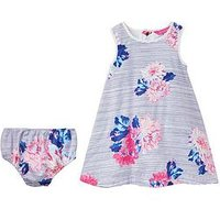 Joules Floral Dress & Brief Outfit, Multi, Size 6-9 Months