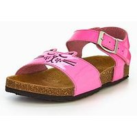 Joules JUNIOR GIRLS TIPPYTOES SANDAL, Neon Pink Rose, Size 10 Younger