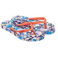 Joules JOULES JUNIOR GIRLS DITSY PRINT FLIP FLOP, Floral, Size 12 Younger