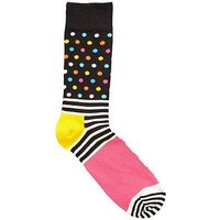 HAPPY SOCKS Happy Socks Stripes & Dots Socks, Multi, Size 4-7, Men
