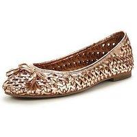 OFFICE Little Metallic Ballerina Shoes - Rose Gold, Rose Gold, Size 3, Women