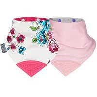 CHEEKY CHOMPERS Neckerchew 2 pk - Baby Baby + Joules Anna Floral, One Colour