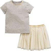 Mini V by Very Girls Jersey Top & Tutu Skirt Set, Multi, Size Age: 12-18 Months, Women