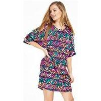 Noisy may Jungle Dress, Cactus Print, Size 12=L, Women