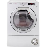 Hoover Dncd91Bc Dynamic 9Kg Load Aquavision Condenser Sensor Tumble Dryer - White