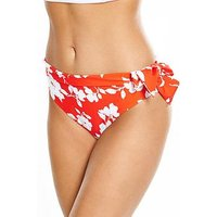 V by Very Controlwear Tie Side Fold Down Bikini Brief, Floral, Size 24, Women