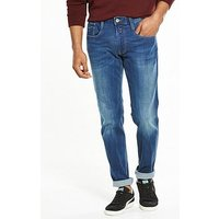 Replay Anbass Slim Fit Jeans, Mid Blue, Size 30, Length Regular, Men