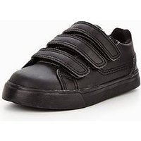 Kickers Boys Tovni Trip Strap School Shoes (with FREE School Bag Offer!), Black, Size 10 Younger