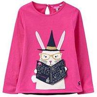 Joules Girls Chomp Novelty Applique T Shirt, Pink, Size Age: 1 Year, Women