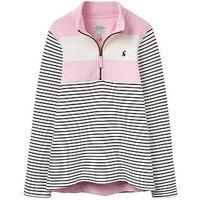 Joules Girls Fairedale Stripe Sweatshirt, Rose Pink Stripe, Size Age: 6 Years, Women