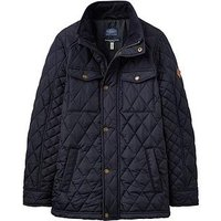 Joules Boys Stafford Quilted Jacket, Navy, Size Age: 5 Years