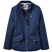 Joules Girls Newdale Quilted Jacket, Navy, Size 5 Years, Women