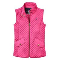Joules Girls Jilly Quilted Gilet, Fuchsia, Size 9-10 Years, Women