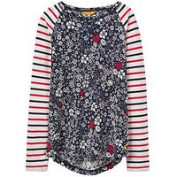 Joules Girls Mishmash Hotchpotch Top, Ditsy Floral, Size Age: 4 Years, Women