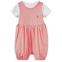 Joules Girls Dolly Jersey Romper And T-shirt Outfit, Pink, Size 6-9 Months