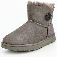 UGG Mini Bailey Button Ii Boot, Grey, Size 3, Women