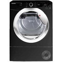 Hoover One Touch Dxc8Tceb 8Kg Condenser Tumble Dryer - Black/Chrome
