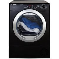 Candy Grand O Vita Smart Gvsc10Dcgb 10Kg Load Condenser Tumble Dryer - Black/Chrome