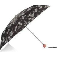 Black Daisy Print Umbrella New Look