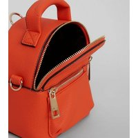 Orange Mini Backpack New Look