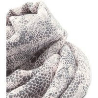 Grey Lace Print Contrast Trim Long Scarf New Look