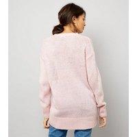 Pink Longline Jumper New Look