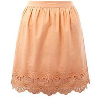 Orange Cut Out Hem Mini Skirt New Look