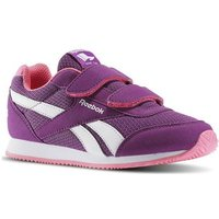 Reebok Sport  Royal Cljog Auberginesolar Pink  girls's Children's Shoes (Trainers) in white