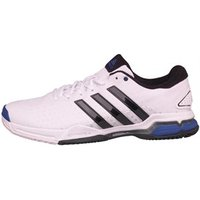 adidas Mens Barricade Team 4 Tennis Shoes White/Core Black/Night Flash