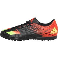 adidas Mens MESSI 15.4 TF Astro Football Boots Core Black/Solar Green/Solar Red