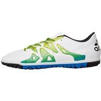 adidas Mens X 15.3 TF Astro Football Boots White/Core Black/Semi Solar Slime