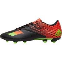 adidas Mens MESSI 15.3 FG / AG Football Boots Core Black/Solar Green/Solar Red