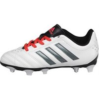 adidas Junior Goletto V FG Football Boots White/Night Metallic/Shock Red