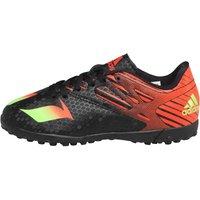 adidas Boys Messi 15.4 TF Astro Football Boots Core Black/Solar Green/Solar Red