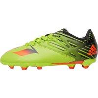 adidas Boys Messi 15.3 FG / AG Football Boots Semi Solar Slime/Solar Red/Core Black