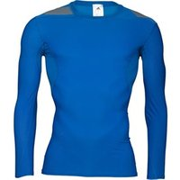adidas Mens TechFit Powerweb ClimaLite Compression Long Sleeve Top Blue