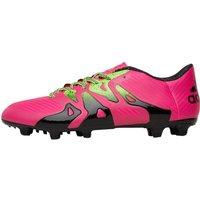adidas Mens X 15.3 FG / AG Football Boots Shock Pink/Solar Green/Core Black
