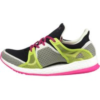 adidas Womens Pure Boost X Lightweight Training Shoes Black/Shock Pink/Semi Solar Slime