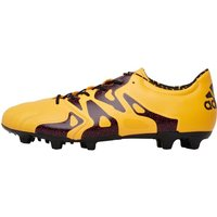 adidas Mens X 15.2 FG / AG Leather Football Boots Solid Gold/Core Black/Shock Pink